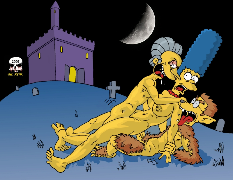 paheal the simpsons Horse cock deep in ass