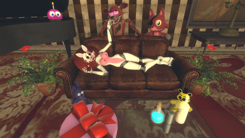 and porn mangle foxy fnaf Fate grand order pink hair