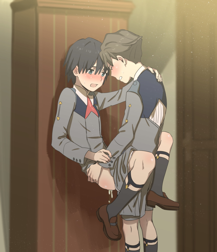 the darling hiro in frankxx Panty and stocking with garterbel